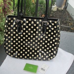 SALE  Kate Spade Dotty bag black polka dots new